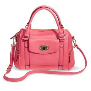 neon pink purse