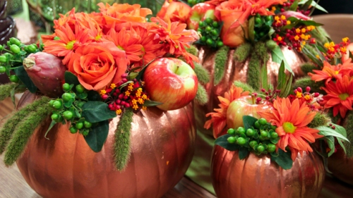 pumpkin carvable centerpiece