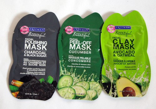 Freeman-Face-Mask-Facial-Polishing-Mask-Charcoal-Black-Sugar-Facial-Peel-Of-Mask-Cucumber-Facial-Avocado-Otmeal-Clay-Mask-Review